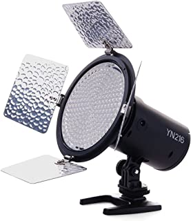 Yongnuo_ YN216 YN-216 LED Video Camera Light with 5500K Color Temperature and 4 Color Plates for Canon Nikon DSLR Cameras