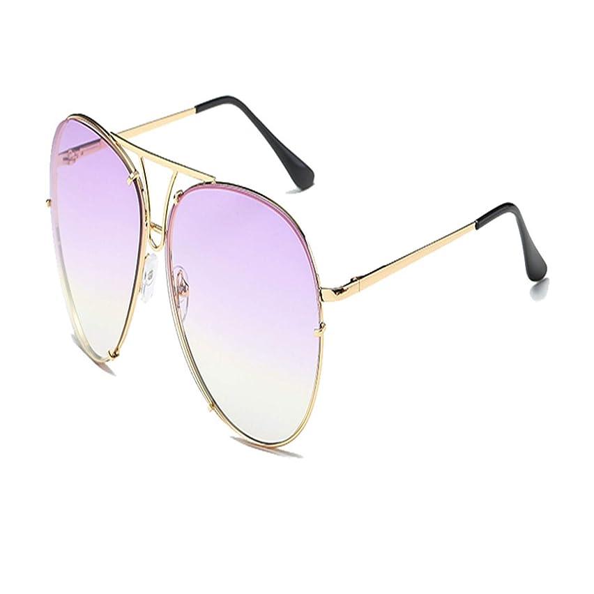 New Pilot Sunglasses Women Men Candy Colors Lens Sunglass Oversized Frog Glasses Gradient Purple