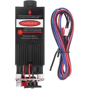 2.3W módulo de grabado láser 445nm Módulo láser azul con disipador de calor para DIY Máquina Grabadora Láser CN Plug: Amazon.es: Bricolaje y herramientas