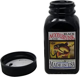 Noodler's Black Waterproof Fountain Pen Ink - Bulletproof,3 ounce