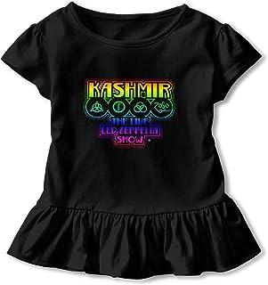 Led Zeppelin レッド?ツェッペリン 女の子 半袖 Tシャツ ガール キッズ フリル フレアスリーブ 無地 カジュアル 可愛い 柔らか 上着 赤ちゃん服 子供服 春夏服 日常生活