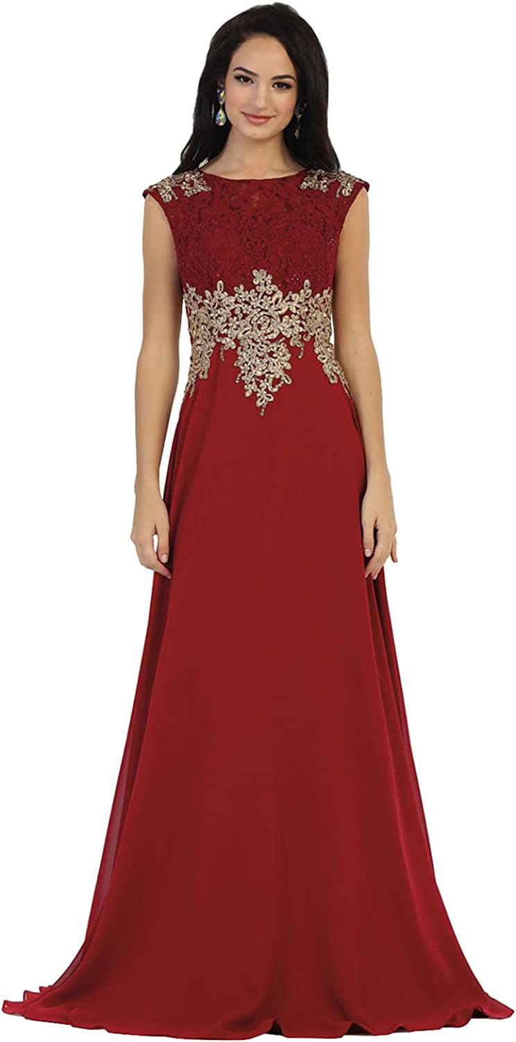 May Queen MQ1460 Special Occasion Demure Evening Gown