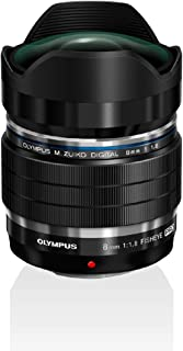 Olympus M.Zuiko Digital ED 8 mm F1.8 PRO objektiv, ljustålig fast brännvidd, lämplig för alla MFT-kameror (Olympus OM-D & ...