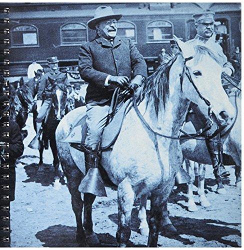 3dRose db_97716_1 President Teddy Roosevelt 1903 auf dem Pferderücken in Yellowstone National Park-Zeichnungsheft, 20,3 x 20,3 cm