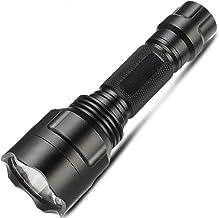 Led Handheld Flashlight Pocket Size Super Bright 800 lumens T6 Adjustable Focus Waterproof Camping Outdoor with USB Rechar...