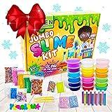 DIY Slime Kit for Girls Boys - Ultimate Glow in the Dark Glitter Xmas Slime Making Kit - Slime Kits Supplies...