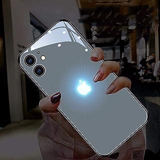 IPhone 12 Pro グローイングケース、LEDコールフラッシュライトiPhone 12 Mini 、iPhone 12、iPhone 12 Pro Max ケース音声起動ライトアップロゴケースイルミネーションカバー強化ガラスバックカバー...