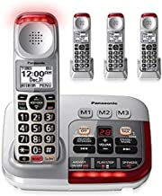 Panasonic KX-TGM450S + (3) KX-TGMA45S with Volume Boost Control for Amplified Caller Voice Cordless Telephone with Digital... photo