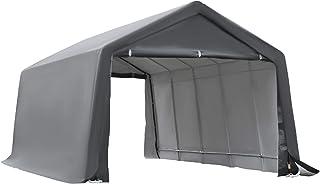 Outsunny Tente Garage carport dim. 6L x 3,6l x 2,75H m Acier galvanisé Robuste PE Haute densité 195 g/m² imperméable Anti-...