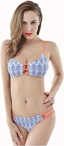 Qiusa Maillot de Bain Bikini Bikini Femme Triangulaire Split, XL (Couleuré   -, Taille   -)
