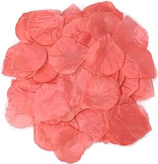 Ben Collection 300 Pieces Silk Rose Petal Wedding Decoration (Coral)