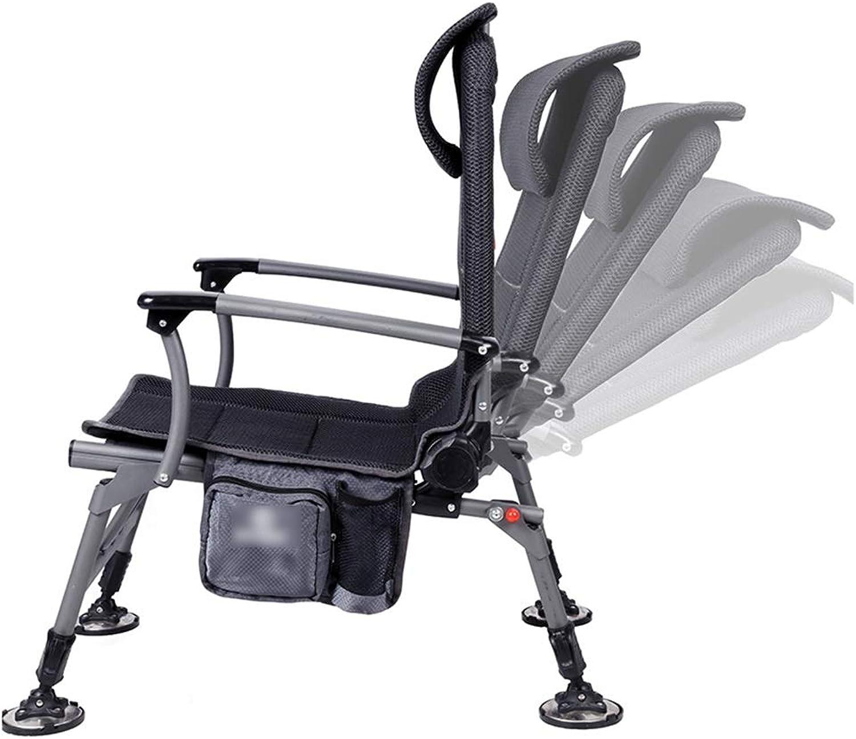 Angeln Fishing Chair Falten Beach Chair Multifunktionalen Outdoor-Stuhl Waschbarer Quick-Trocknen Mesh Teleskop-Leg Tube Lifting Kissen 120kg