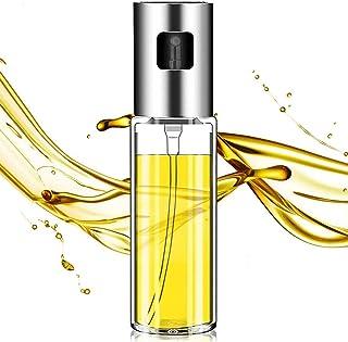 Olive Oil Sprayer,Oil Sprayer For Cooking,100 ml Food-Grade Glass Olive Oil Spray Bottle Oil Dispenser for Cooking/Making ...