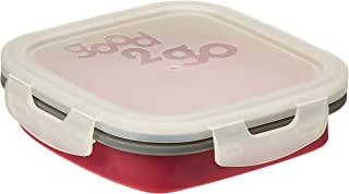 JWP Good 2 Go Square Expandable Container, 800 Ml Red G35001