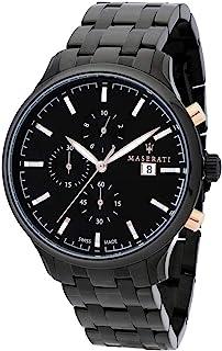 Maserati - Reloj para Hombre, Colección ATTRAZIONE, en Acero, PVD Negro - R8873626001
