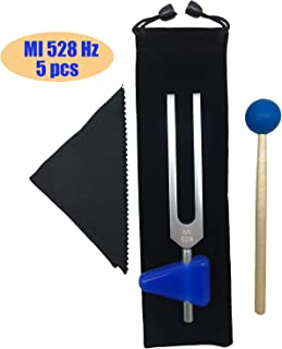 Tuning Forks Set 528 Hz Chakra for DNA Repair Healing Sound Healing Forks 5 Packs Silver