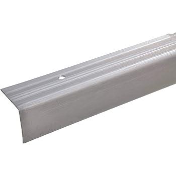 acerto 37681 Perfil angular de escalera de acero inoxidable - 100cm 30x30x15 mm antideslizante I Robusto I De fácil instalación I Perfil de borde de escalera perfil de peldaño de escalera: Amazon.es: