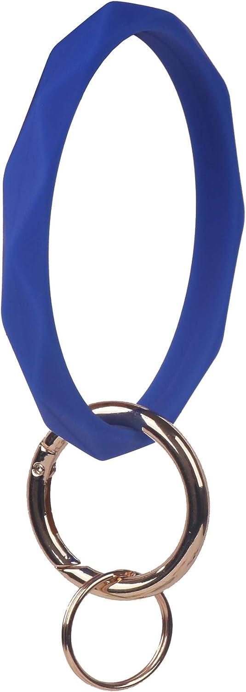 YAKA Silicone Wrist Rhombic Keychain Circle Bracelet Rubber Bangle Round Keyring