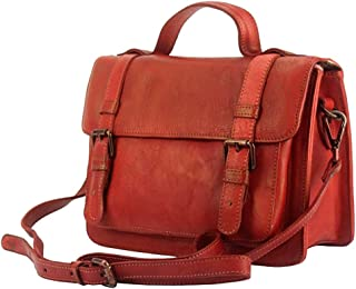 FLORENCE LEATHER MARKET Borsa a mano con tracolla in pelle donna 30x10x21 cm - Nazareth - Made in Italy