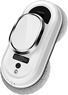 Wantbuy F360 Robot Vacuum Cleaner, Robot Window Cleaning, Indoor and Outdoor, Dry and Wet Cleaning, Support Any Glass Thickness, Suitable for Glass, Table, Bathroom, Wall, Floor, Any Plane (White)