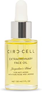 CIRCCELL Extraordinary Face Oil - Jacqueline's Blend for Anti-Aging with Vitamin C, Rose & Jasmine Oils - 30 ml - Vegan & Cruelty Free