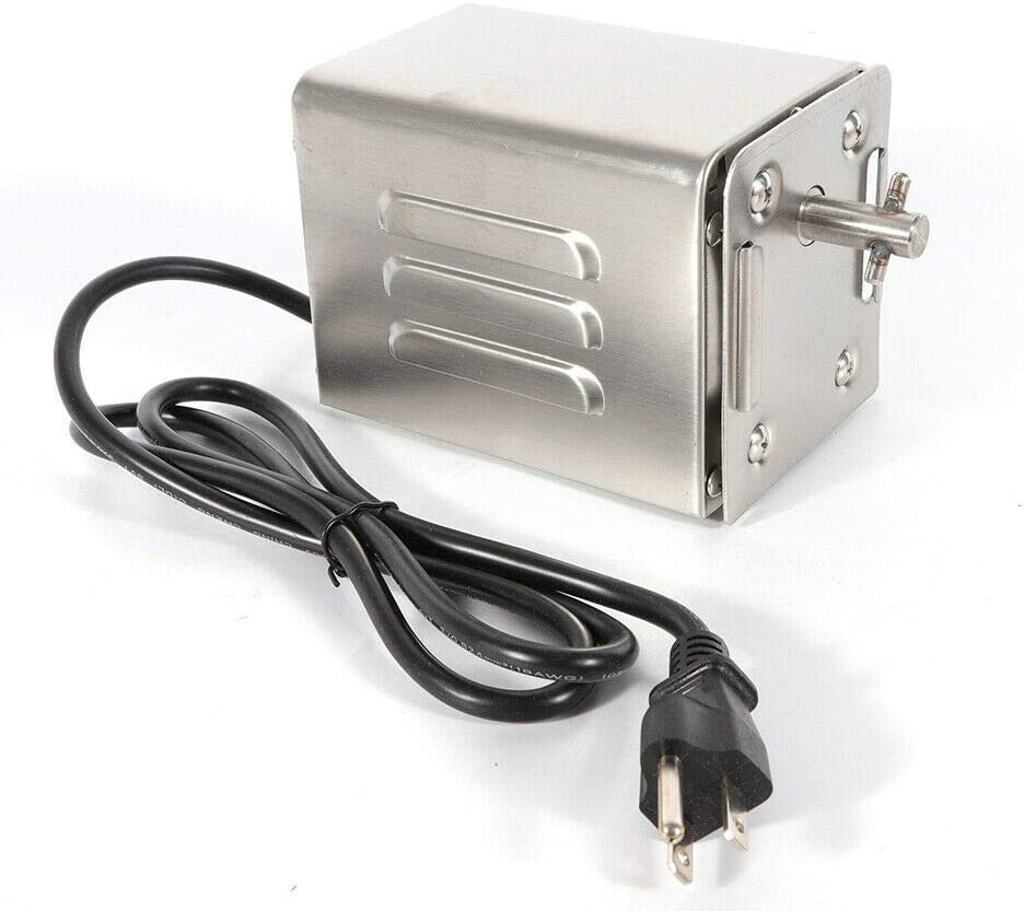 Eapmic Heavy-Duty Stainless Steel Rotisserie Fees free!! Motor BBQ Spit 110V Direct store