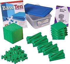 ETA hand2mind Green ManipuLite Foam Base Ten Blocks Starter Set