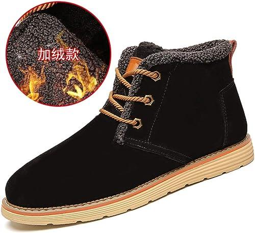 botas cálidas para el Tobillo de los hombres Ocasional clásico con Cordones botas Altas