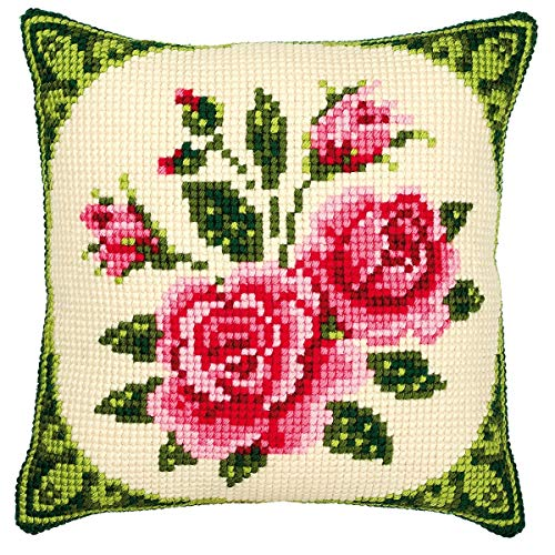 Vervaco - Cojín de Punto de Cruz, diseño de Rosas