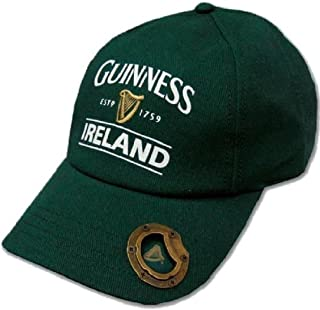 fd86b1ee3251 Bottle Green Guinness Baseball Cap With Bottle Opener And Ireland Est. 1759  Text