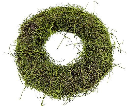 gjs Kranz 25cm Moos Clematis Adventskranz Basteln Naturdeko Herbstdeko Türkranz Herbstkranz Mooskranz Naturkranz Weihnachtsdeko