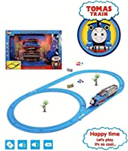 Jack Royal Battery Operated HMC Tomas Toy Train Track Set with Sound and Flashing Lights Train with Coal Wagon, Tanker