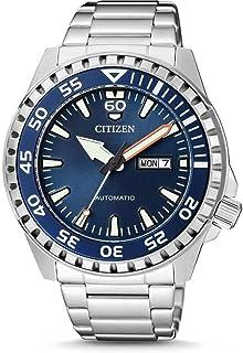 Citizen NH8389-88L Montre automatique pour homme en acier inoxydable avec cadran bleu 100 m