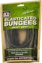 BCB CM031 - Green Heavy Duty Elasticated Bungee Cord 1M Pack of 4