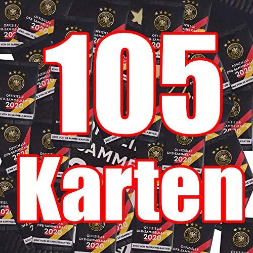 Rewe 105x EM 2020 DFB - Sammelkarten - 105 Päckchen - Tüten - Karten - RARR incl. WIZUALS© Sticker