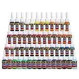 Solong Tattoo Ink Set 54 Complete Colors Pigment Kit 1/6oz...