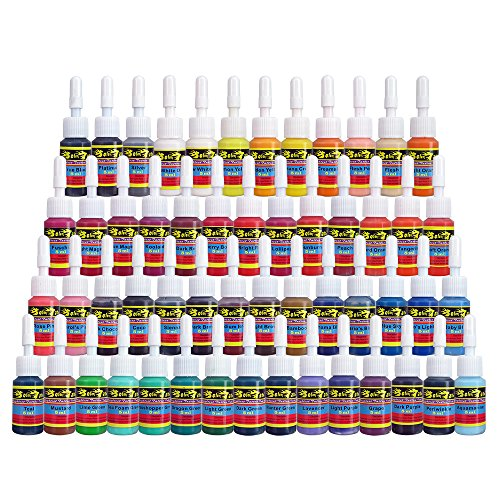 Solong Tattoo Ink Set 54 Complete Colors Pigment Kit 1/6oz (5ml)...