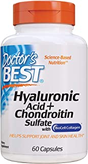 Doctor's Best Hyaluronic Acid with Chondroitin Sulfate, Non-GMO, Gluten Free, Soy Free, Joint Support, 60 Caps