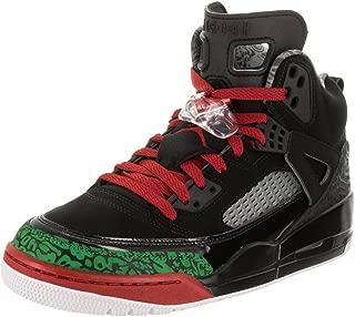 Nike Mens Air Jordan Spizike Basketball Shoes (13, Black/Classic Green-White-Varsity Red)