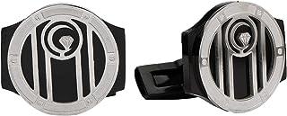 Diamond Moon Stainless Steel Cufflinks for Men, Stainless Steel - 1800541240454