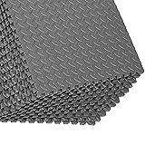 Good Times - Set di 16 tappetini protettivi per pavimento, per palestra, palestra, palestra, palestra, yoga, cantina, protezione da ammaccature (grigio)