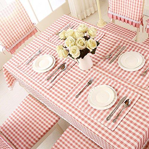 Uus Nappe à carreaux étanche Lot sans huile lavable Nappe Pastoral Style rectangle Table basse Coque 130*180cm D