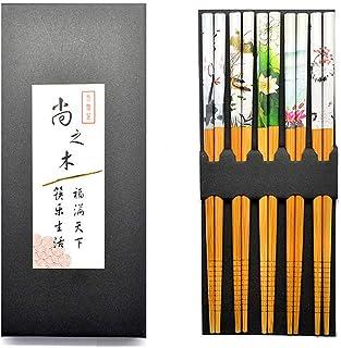 Ukainiemai 5 Paar Blütenstäbchen Asiatisch Japanisch Bunte