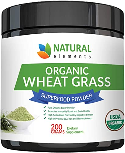 Wheatgrass Powder - USDA Certified Organic Wheat Grass Powder That Is Rich In Essential Amino Acids, Chlorophyll, Antioxidants, Fatty Acids, Minerals & Vitamins - US Grown - Vegan & Non-GMO Superfoods product image