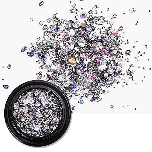 Sieraden voor nagelkunst, 3D, strass-stenen, knutselaccessoires, knutselen, decoraties in doos, diamanten breken B#