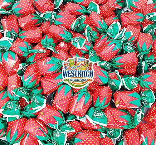 WESTKITCH ARCOR STRAWBERRY BON BONS - Filled Hard Candy Individually Wrapped Assorted Fresh Sweet Bulk Candy - 2Lb