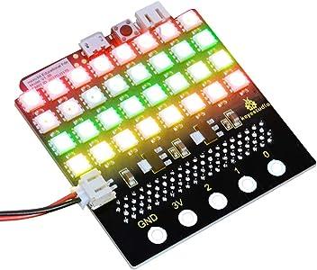 8 de couleur rouge de Keyestudio HT16K33 pour Arduino Module commun de matrice de points de la cathode I2C 8