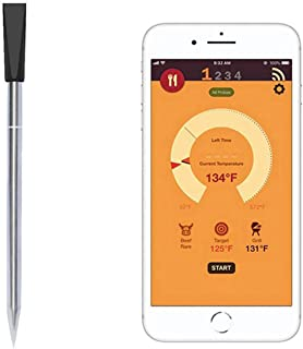 Termometro per Carne Senza Fili Termometro Intelligente Bluetooth Meate Rilevatore di Temperatura Digitale remoto per Forn...