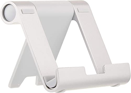 AmazonBasics Multi-Angle Portable Stand for Mobile Phones, Tablets and E-readers, Silver