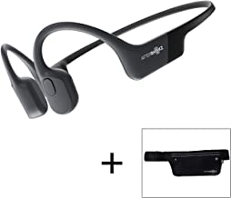 AfterShokz Aeropex Open-Ear Wireless Bone Conduction Headphones with Sport Belt, Cosmic Black